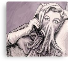Phone Call of Cthulyn Metal Print