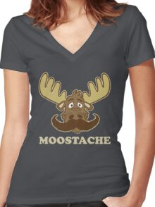 Moostache Women's Fitted V-Neck T-Shirt