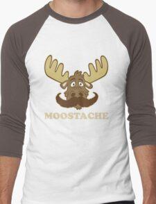 Moostache Men's Baseball ¾ T-Shirt