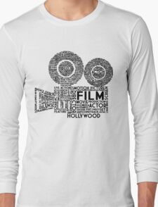 Film Camera Typography - Black Long Sleeve T-Shirt