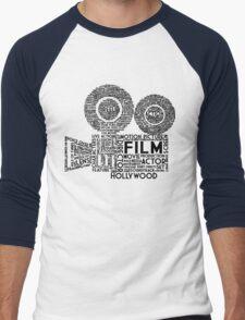 Film Camera Typography - Black T-Shirt