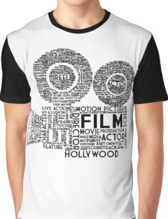 Film Camera Typography - Black Graphic T-Shirt