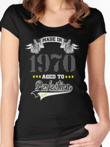 made in 1970-aged to perfection Women's Fitted Scoop T-Shirt