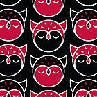 Owl Pattern Vertical Card by Mariya Olshevska