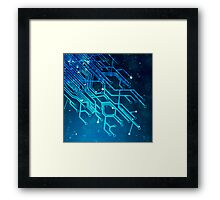 tree of technology Framed Print