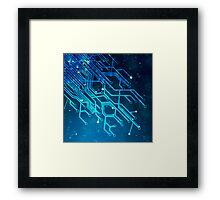 tree of technology Framed Print