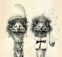 Mr. and Mrs. Ostrich iPad by Redilion