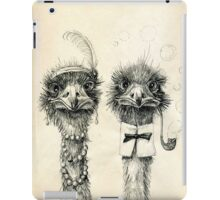 Mr. and Mrs. Ostrich iPad iPad Case/Skin
