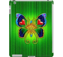 Celtic Butterfly on Green iPad Case/Skin