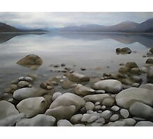 Stones by a lake Photographic Print