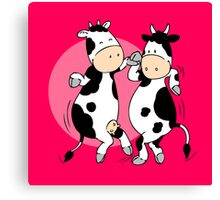 Mooviestars - Dancing Cows Canvas Print
