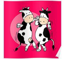 Mooviestars - Dancing Cows Poster