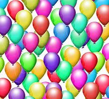 Colorful Balloons! iPad Case by Cherie Balowski