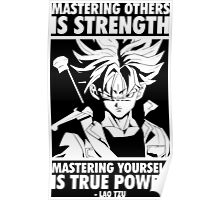 Mastering Yourself Is True Power (Future Trunks) Poster