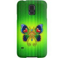 Celtic Butterfly on Green Samsung Galaxy Case/Skin