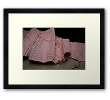 Une gaine or a vintage corset ?  Framed Print