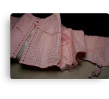 Une gaine or a vintage corset ?  Canvas Print