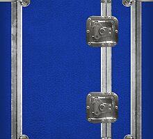 Flightcase (Blue) iPad Case by abinning