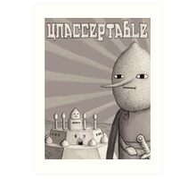 Unacceptable: Castle Lemongrab Art Print
