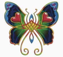Celtic Butterfly on Green Kids Clothes
