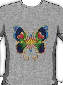 Celtic Butterfly on Green T-Shirt