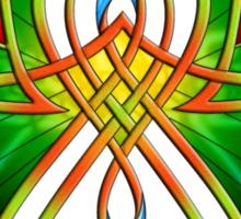 Celtic Butterfly on Green Sticker