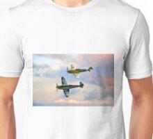 Messerschmitt Bf 109 and Buchon HA-1112 Unisex T-Shirt