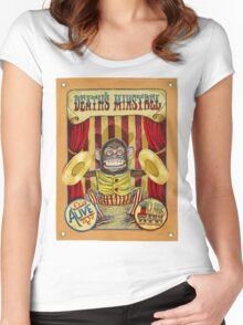 Death's Minstrel: Jolly Chimp Sideshow Banner Women's Fitted Scoop T-Shirt