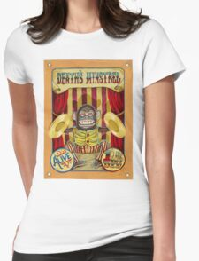 Death's Minstrel: Jolly Chimp Sideshow Banner Womens Fitted T-Shirt