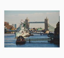 H.M.S. Belfast at Tower Bridge One Piece - Long Sleeve