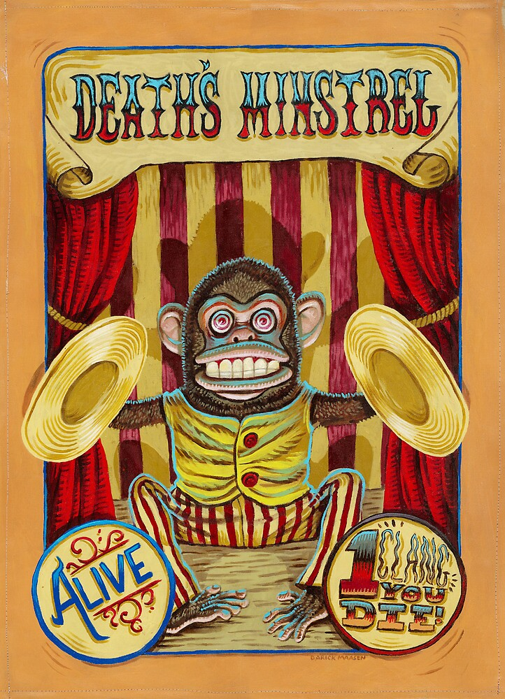 Death's Minstrel: Jolly Chimp Sideshow Banner by darickmaasen