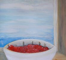 bowl of cherries by Jacqueline Eirian McKay