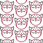 Owl Pattern Card by Mariya Olshevska