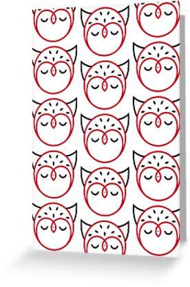 Owl Pattern Card by Mariya Olshevska