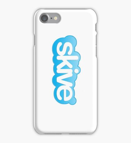Connect and skive iPhone Case/Skin