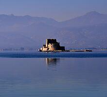 Greek Fortress in the Aegean Sea by Jennifer Lyn King