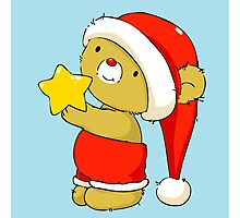 Christmas Bear with star Photographic Print
