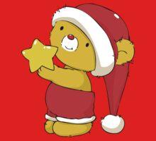 Christmas Bear with star One Piece - Short Sleeve
