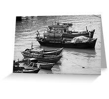 Fishing Boats in Nha Trang, Vietnam  Greeting Card