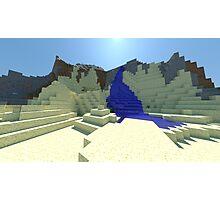 Life - Minecraft 3D Render Photographic Print