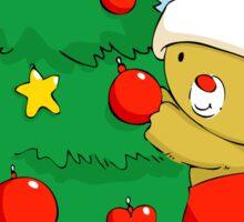 Christmas Bear decorating Christmas tree Sticker