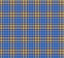 Artistic plaid pattern in blue by nadil