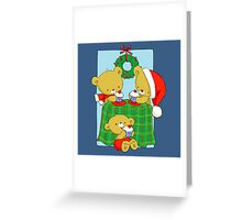 Christmas Bears eating Cupcakes Greeting Card