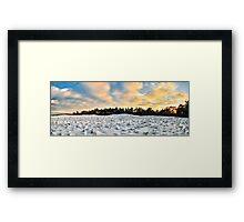 Wide White World Framed Print