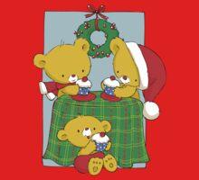 Christmas Bears eating Cupcakes One Piece - Short Sleeve