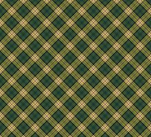 Artistic plaid pattern in green and yellow by nadil
