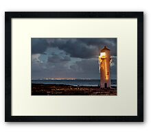 Southerness Light Show Framed Print