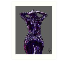 Purple Latex, 2014 Art Print