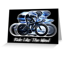 Ride Like The Wind (sticker and card version) Greeting Card