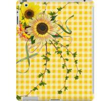 Gingham Sunflowers (iPad case) iPad Case/Skin
